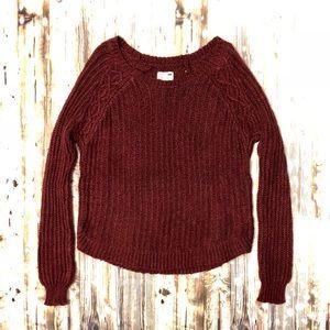 L.A. Hearts burgundy maroon crewneck sweater